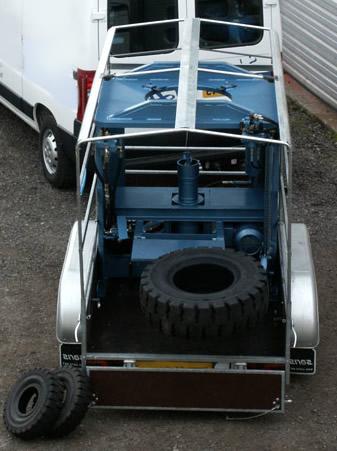 pneu plein alvéolé