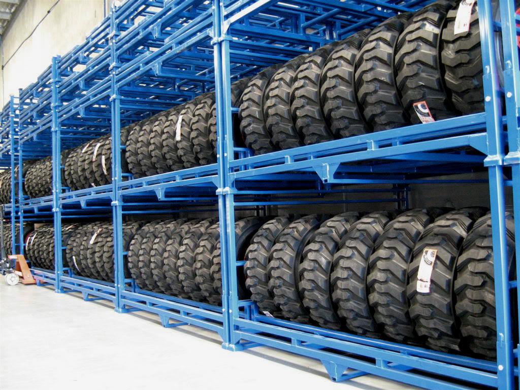 stockage pneus industriels