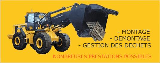 Montage - Demontage - Gestion des déchets -  Nombreuses prestations possibles - pneusindustriels.fr