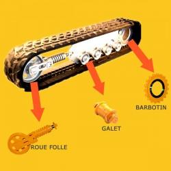 Barbotin pour mini pelle JCB 8016