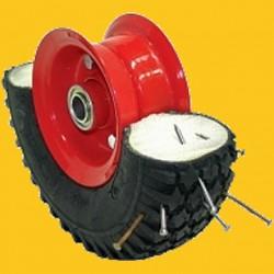 Gonflage mousse polyuréthane pneumatique petites roues (nous contacter au 01.46.41.01.04)