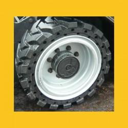 Roue complète en pneu plein alvéolé 33x12-20 monté jante à cercle renforcée industrielle 8.00-20
